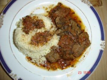 Kalbsfleisch in Tomatensauce - Rezept