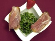 Blattsalat mit Orangen-Vinaigrette und Crostini (Stephen Dürr) - Rezept
