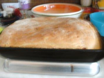 Brot mit Zwiebel, Knoblauch und Schinkenwürfel von Kochmamma - Rezept