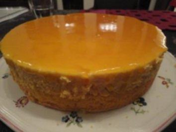 Pfirsich-Schokoladenmousse-Torte - Rezept