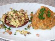 ~ Gefüllte Wurstkörbchen an Karotten-Kartoffelmus ~ - Rezept