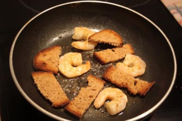 Tomaten-Garnelen-Teller mit Brotstreifen - Rezept - Bild Nr. 3