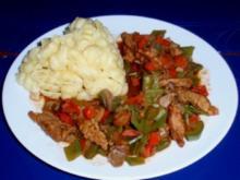 Filet-Gemüse-Pfanne mit Nudeln - Rezept