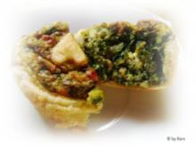 Snacks: Blätterteig Muffins mit Schafskäse und Spinat - Rezept