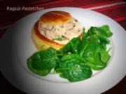 Königspastetchen mit Spinat-Salat EURO 5,55 für 4Pers. - Rezept