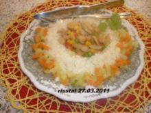 Putengeschnetzteltes mit buntem Gemüse - Rezept