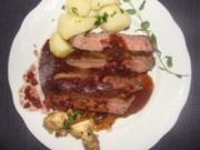 Fleisch : -Entrecote in Rotwein- - Rezept