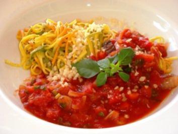 Pasta-Basilico-Pomodoro EURO 5,55 für  4 Pers. - Rezept