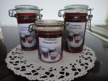 beschwipstes Cranberry Chutney - Rezept