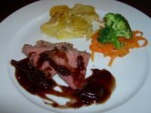 Roastbeef mit Rotweinschalotten - Rezept