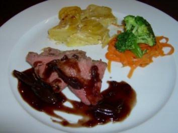 Rezept: Roastbeef mit Rotweinschalotten