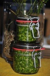 Bärlauchpesto mit Haselnüssen und Pecorino - Rezept