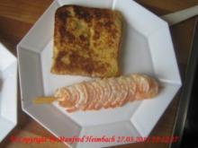 Shrimps - Gambas en escabeche en el ajo con Pobres Caballeros de Ajo - Rezept