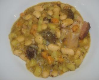 Asturischer Bohneneintopf - Rezept