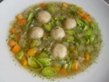 Grünkernsuppe mit Markklößchen - Rezept