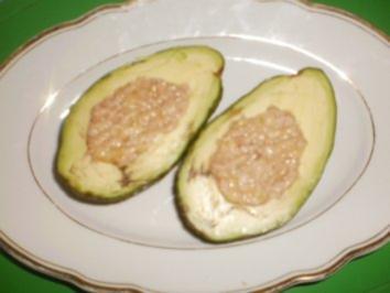 Thunfisch-Banane in Avocado - Rezept