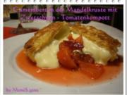 Camembert in der Mandelkruste mit Zwetschgen-Tomatenkompott - Rezept