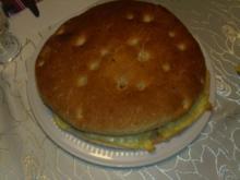 Fleischgerichte: Mega-Cheesburger - Rezept