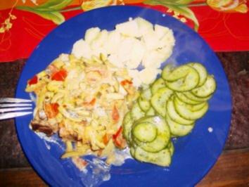 Schweinekoteletts mit Zucchini - Rezept