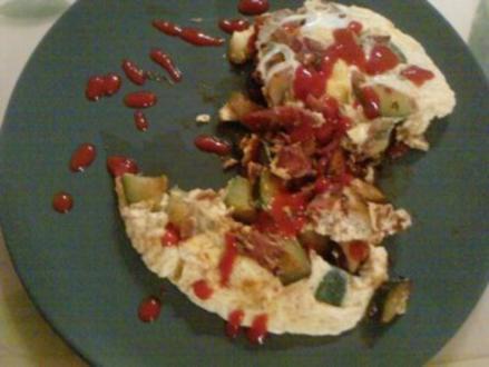 Tortilla sin Patatas caliente - Rezept