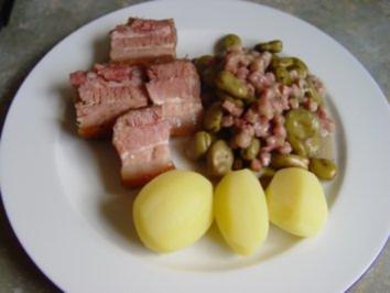 Dicke Bohnen mit Speck - Rezept
