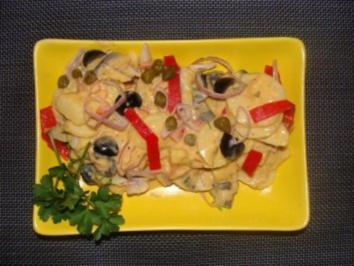 Salat : - Kartoffel- Boqueronessalat - - Rezept