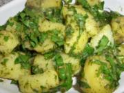 Kartoffelsalat der besonderen Art mit frischem Löwenzahn - Rezept