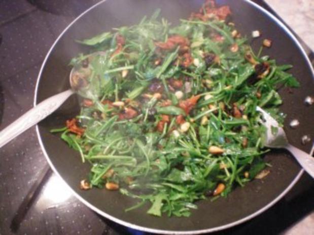 Bandnudeln mit Rucola-Tomaten - Rezept - Bild Nr. 6