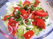 Grüner Salat mit Tomaten ... - Rezept