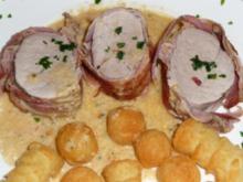 Schweinefilet im Baconmantel - Rezept