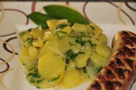 warmer Kartoffelsalat mit Bärlauch - Rezept