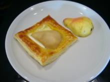 Birne auf Käse und Blätterteig - Rezept