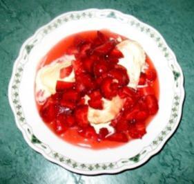 Dessert - Frische Erdbeeren mit Vanilleeis... ein Klassiker - Rezept