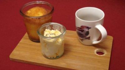 Weißer Schokokuchen mit Lavendel-Eis - Rezept