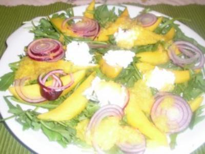 Mangosalat mit Rucola (Rauke) - Rezept