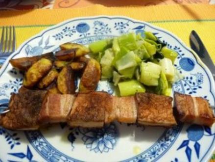 Fleischkäse-Bauchspeck-Spieß - Rezept