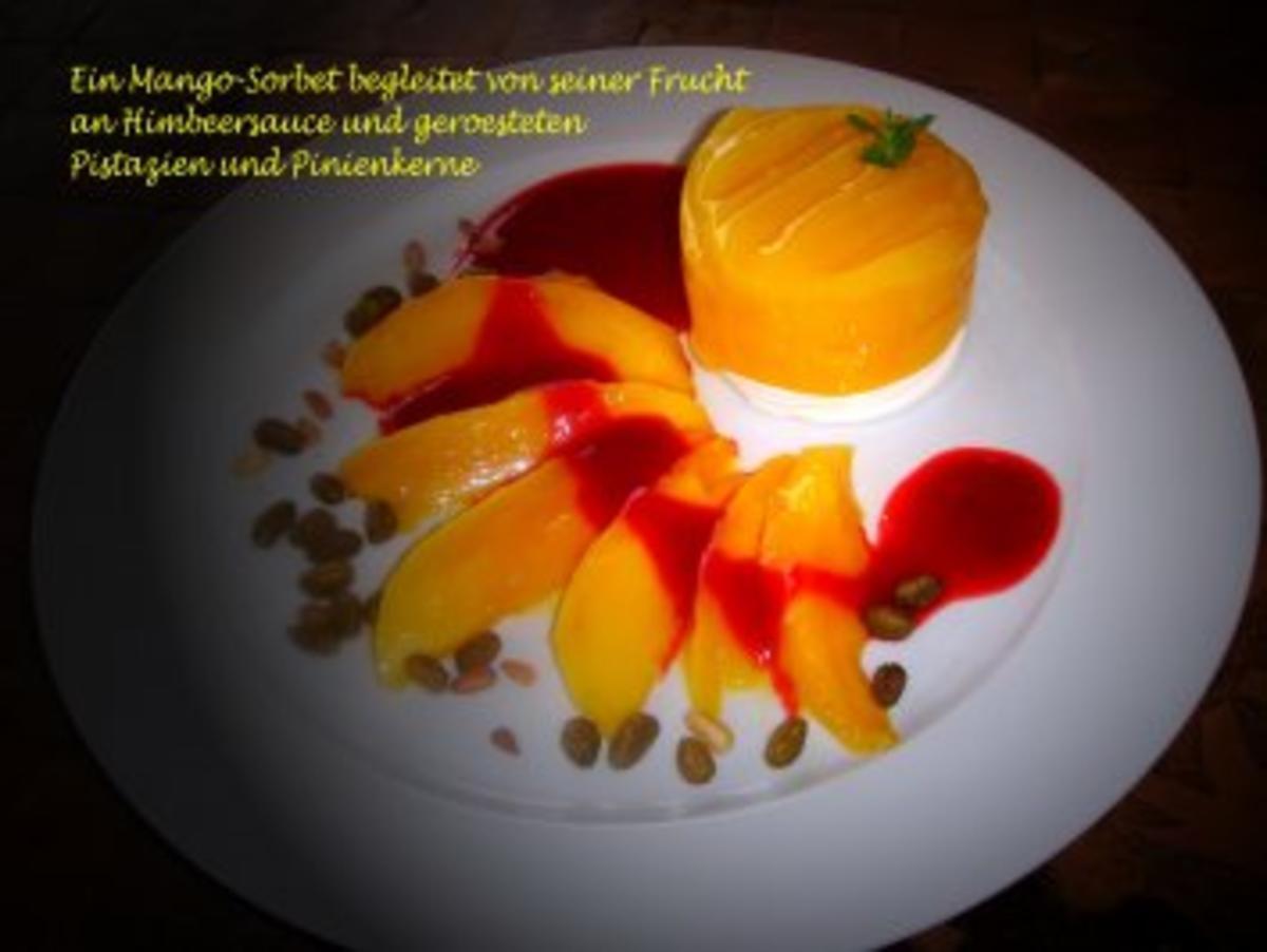 mango sorbet rezept