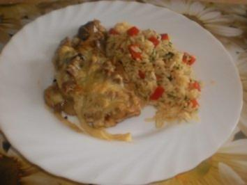 Pute auf Pute mit Käse überbacken -Ragout fin von der Pute fürs Abendbrot - Rezept