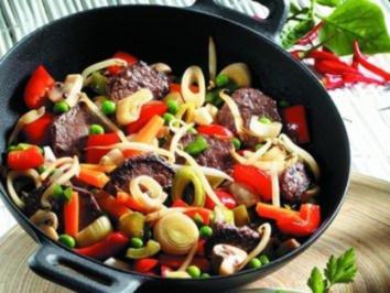 Gemüse Pfanne mit Reis - Rezept
