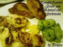 Kartoffel-Zwiebel-Gratin zum Schnitzel - Rezept