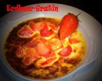 Erdbeer - Gratin - Rezept