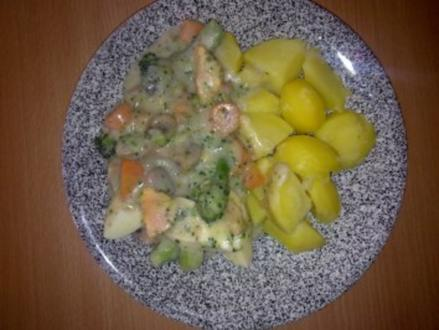 Eiergerichte: Eierragout mit Champignons - Rezept