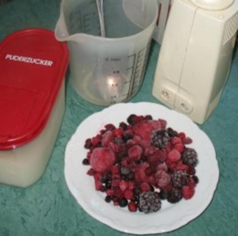 Dessert - Sorbet von roten Beeren - Rezept - Bild Nr. 3