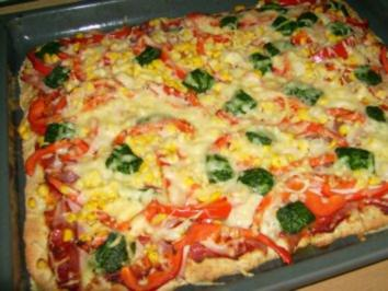 Vollkorn-Pizza - Rezept
