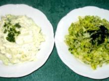 Salat/Beilage - Eisbergsalat ...mit Kräuter-, Schmand- oder Sahnedressing - Rezept
