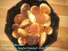 Brunch – Panierte Weißwurst mit frisch gebackenen Laugenbrezeln - Rezept