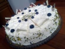 Heidelbeertorte mit weißer Schokolade - Rezept