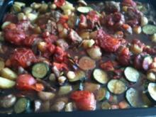 Mediterane Fleischklößchenpfanne - Rezept