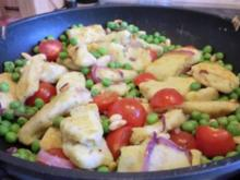 Selbstgemachte Rauke-Gnocchi mit Kirschtomaten - Rezept