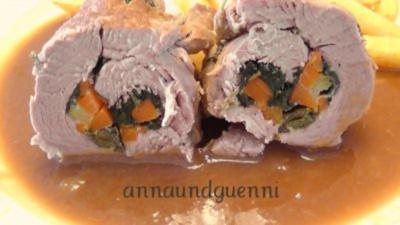gefüllte Schweinefilets - Rezept